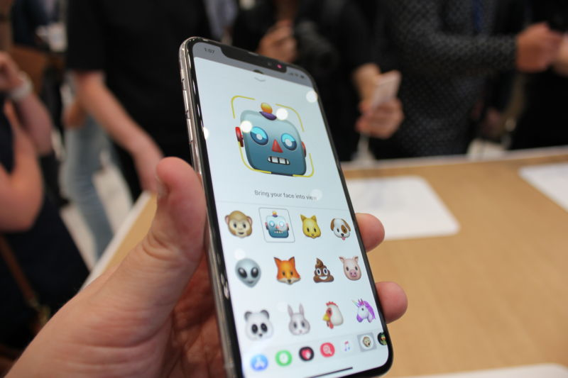 The Messages app has been augmented with a number of features that use the front-facing, 3D camera—including animojis.