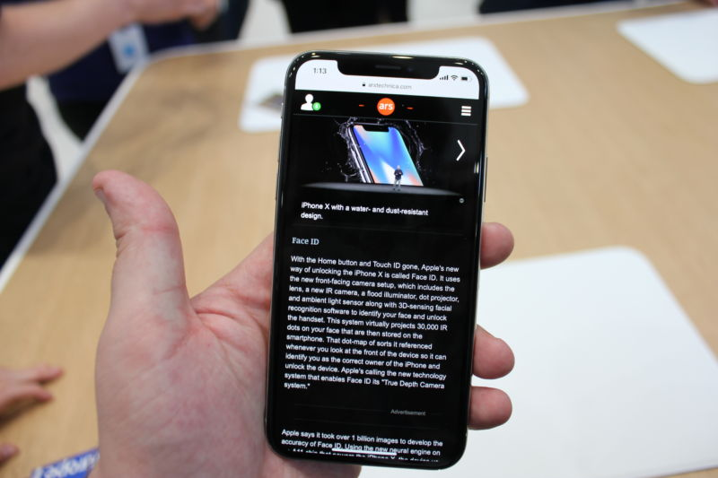 Web browsing in portrait mode gives you more text on the screen at once than previous iPhones.
