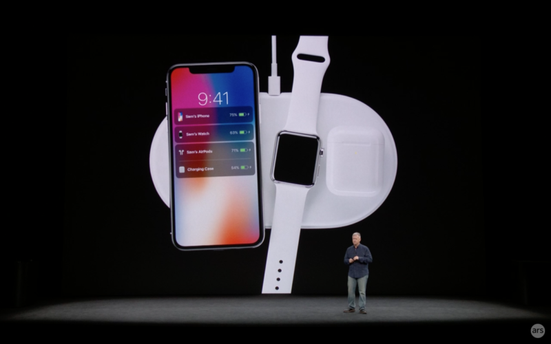 Apple introducing its AirPower wireless charging mat in September 2017.