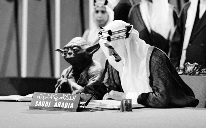 Saudi minister fired after textbook shows Yoda at UN signing ceremony