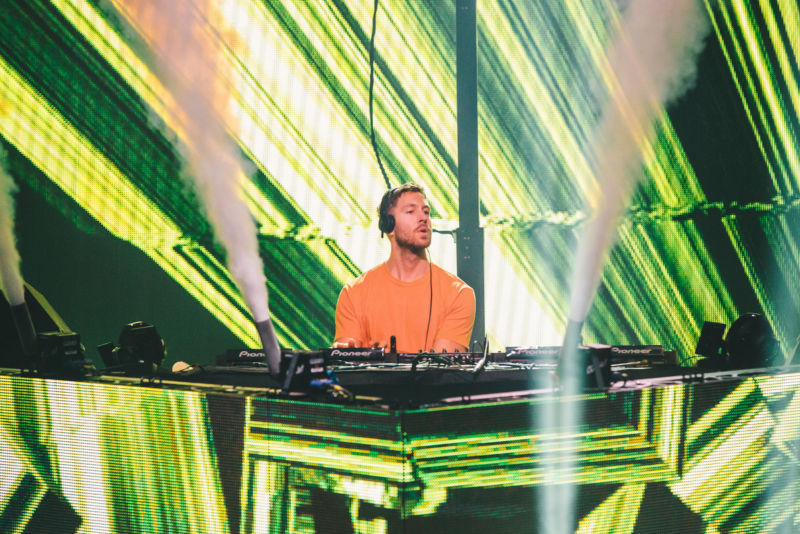 Calvin Harris performing at the 2016 festival.