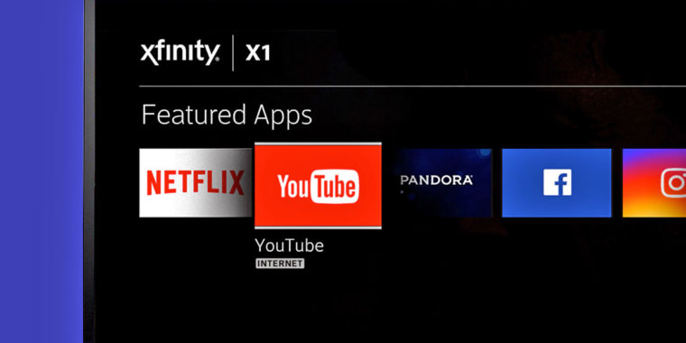 photo image Comcast puts YouTube in its TV boxes to entice would-be cord-cutters