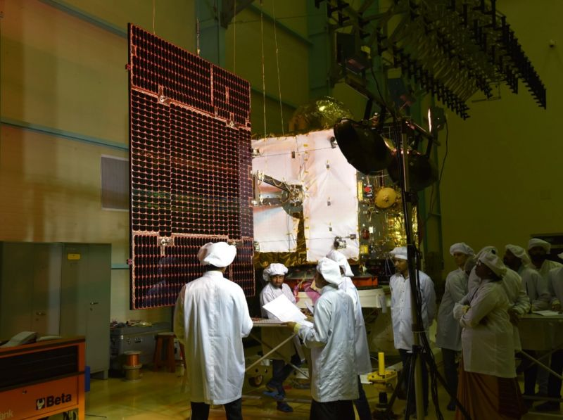 The Indian satellite tried to separate from the rocket while inside the payload fairing.