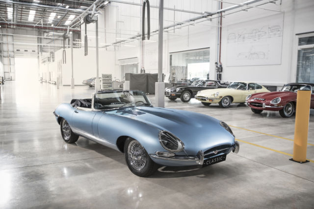 Jaguar has restored this old E-type with an electric upgrade