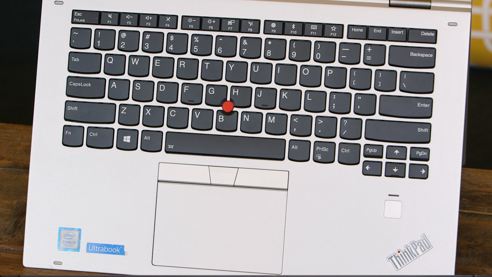 TrackPoint, touchpad, and a fingerprint reader and a good if quirky keyboard layout.