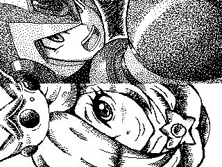 Wonderful dot-art like this is part of what the Miiverse preservation effort is trying to save.