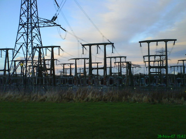 Power grid in Gowkthrapple, UK.