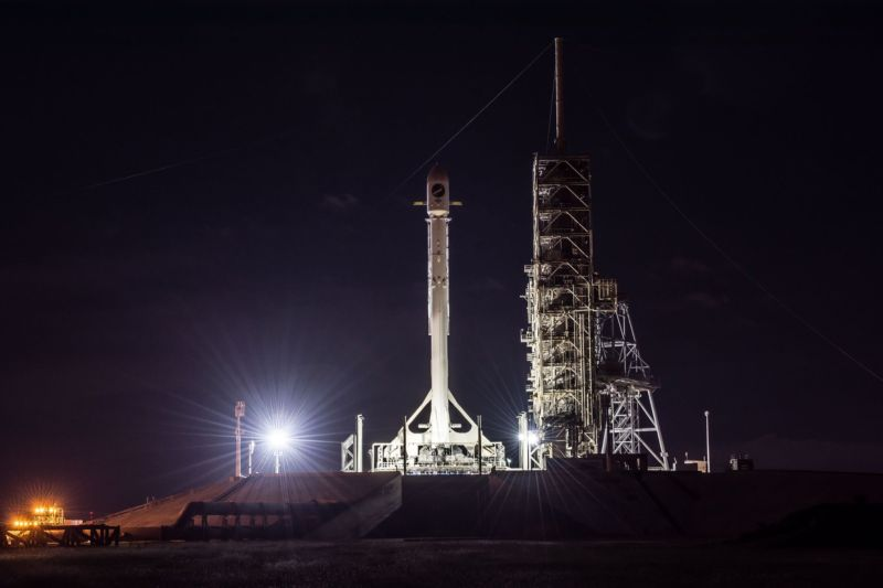 Enlarge  The Falcon 9 rocket is ready to launch an Air Force spy