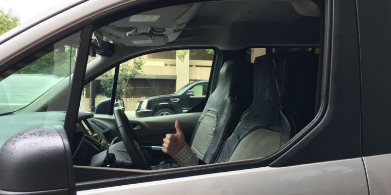 I sat in the seat suit of Ford?s fake self-driving car