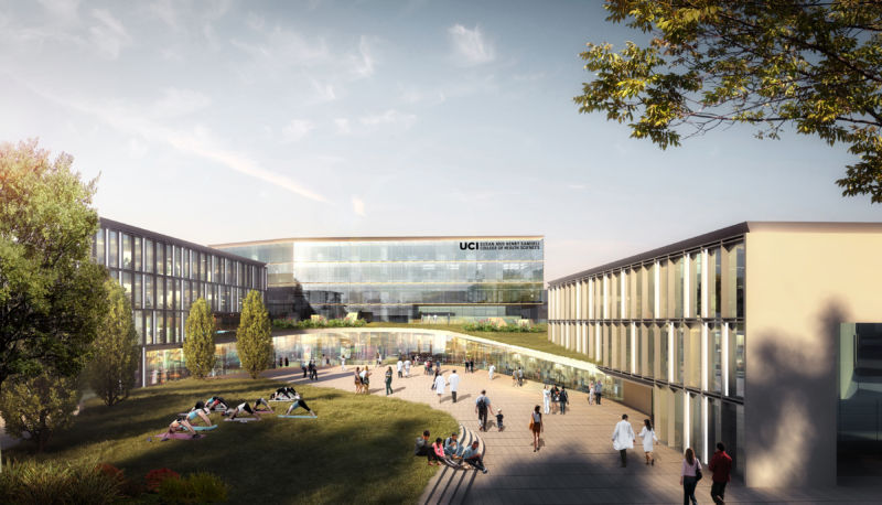 The Susan and Henry Samueli College of Health Sciences will include a new building housing state-of-the-art technology and labs – forming the foundation for a national showcase for integrative health.