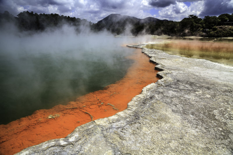The Champagne Pool at the southern end of the Okataina volcanic area.