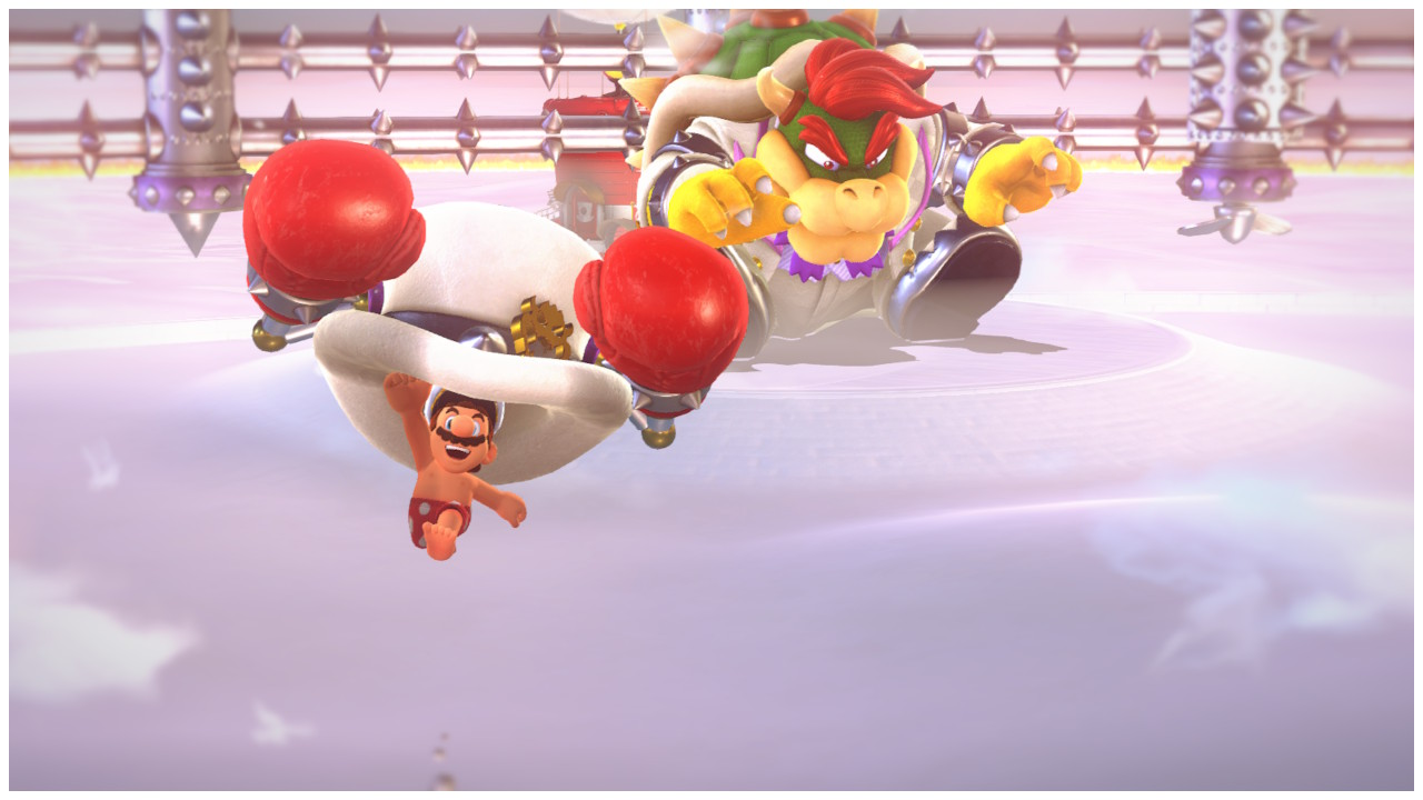 """May you be as joyful as a Mario in boxer shorts and an oversized boxing glove hat"" -Ancient proverb"