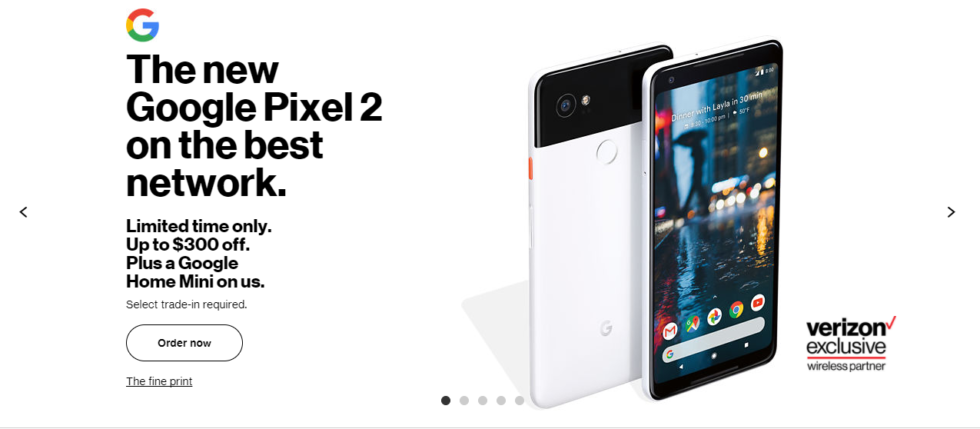 "In this Verizon ad, Verizon can say the phone is an ""exclusive,"" but the Pixel 2 is actually an unlocked device you can take to any carrier."