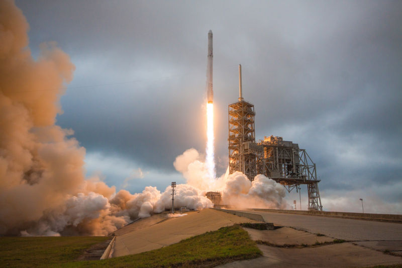 SpaceX Satellites Launched, Rocket Hits Landing