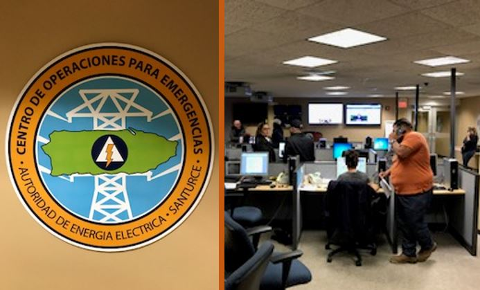 On September 22, Puerto Rico Electric Power Authority staff start emergency power restoration plans in the utility's command center.