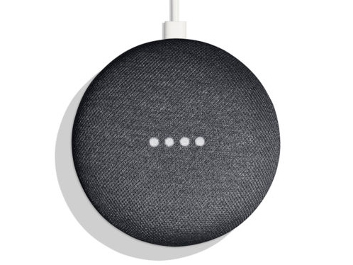 The Google Home Mini. It's listening, even sometimes when it's not supposed to.