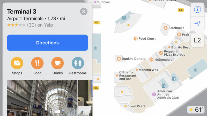 Apple Maps gains airport maps for O'Hare and several others