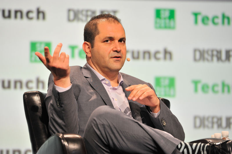 Executive Chairman of Hyperloop One Shervin Pishevar speaks onstage during TechCrunch Disrupt SF 2016 at Pier 48 on September 14, 2016 in San Francisco.