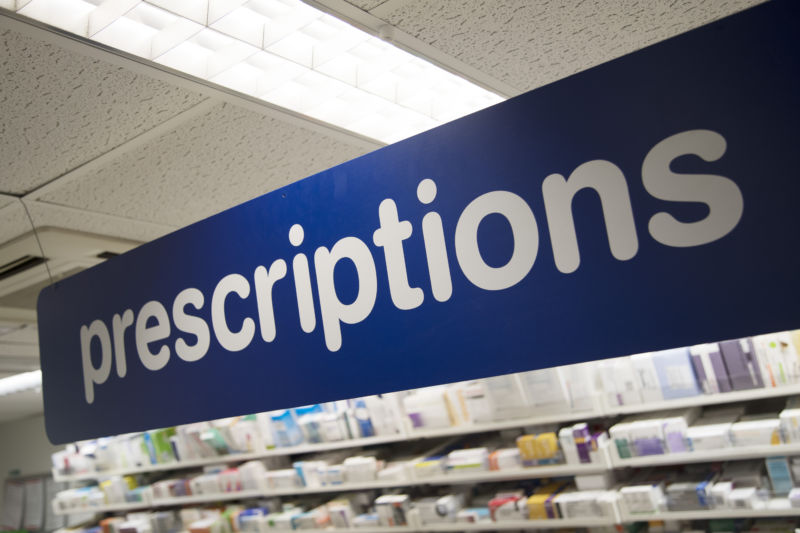 Prescription Drugs behind the counter at Boots the chemist in London, England, United Kingdom. (photo by Mike Kemp/In Pictures via Getty Images)