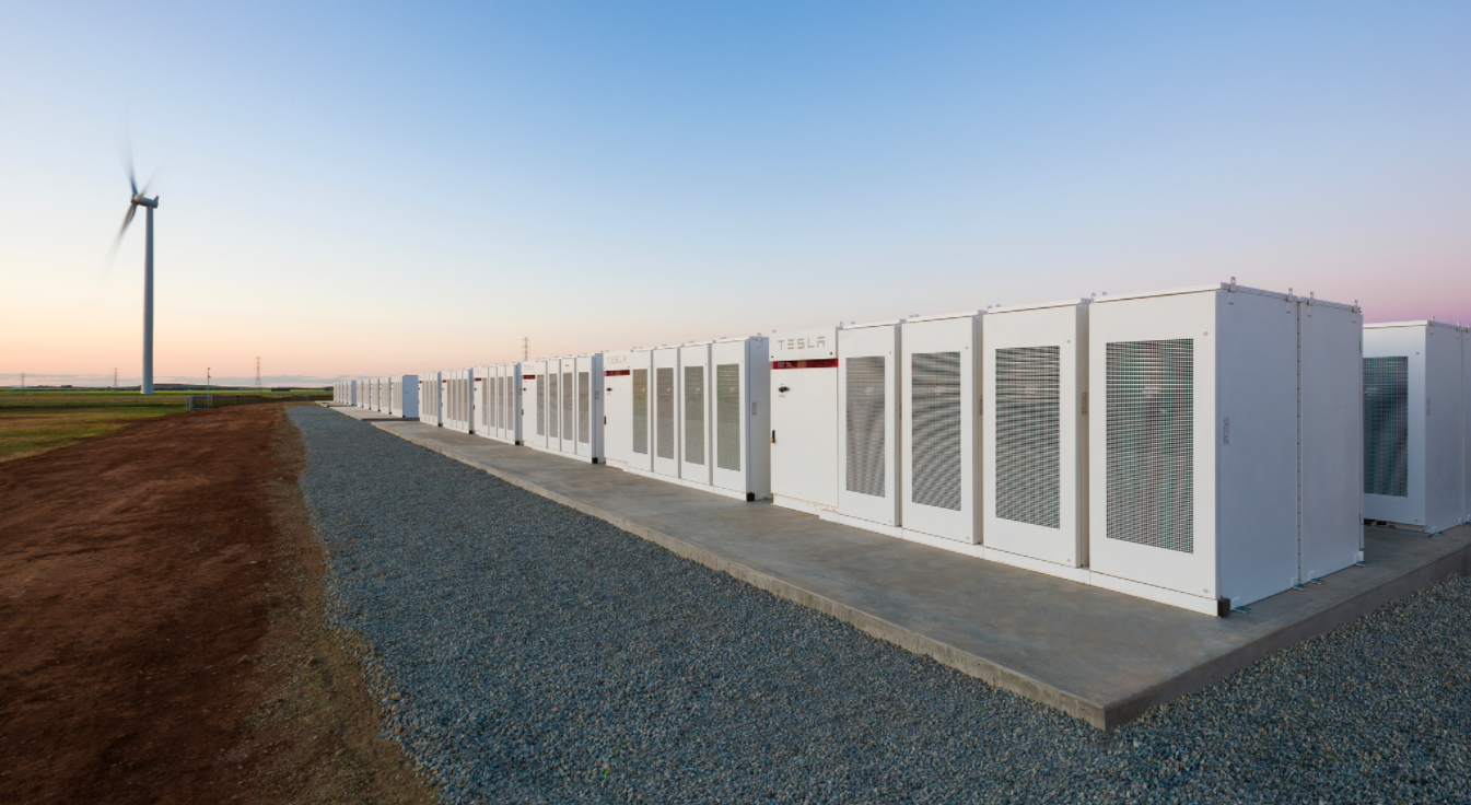 Tesla Powerpacks in South Australia.