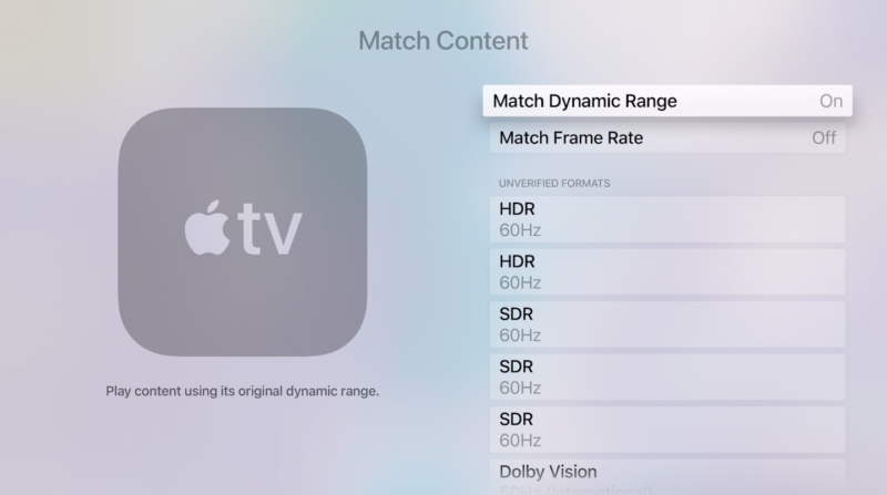 Apple hears AV geeks, will give Apple TV 4K owners more settings control