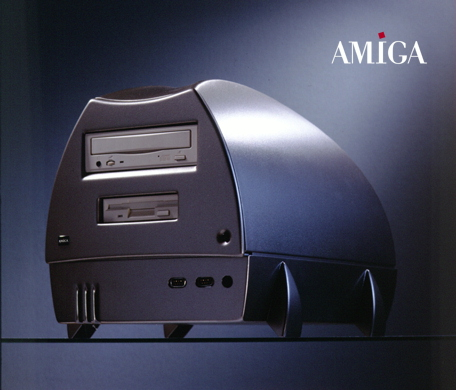 Publicity photo for the ESCOM Amiga Walker prototype.