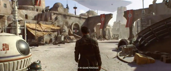 EA has now dramatically shifted the development of the above unnamed Star Wars game. This image is from E3 2016; Visceral's game had long been hidden from the public with a way-off release target of 2019.