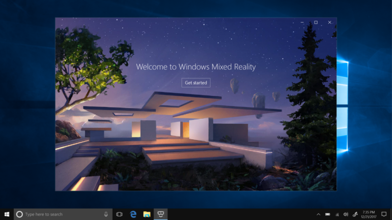 Oddly, Microsoft's Mixed Reality house has no windows.