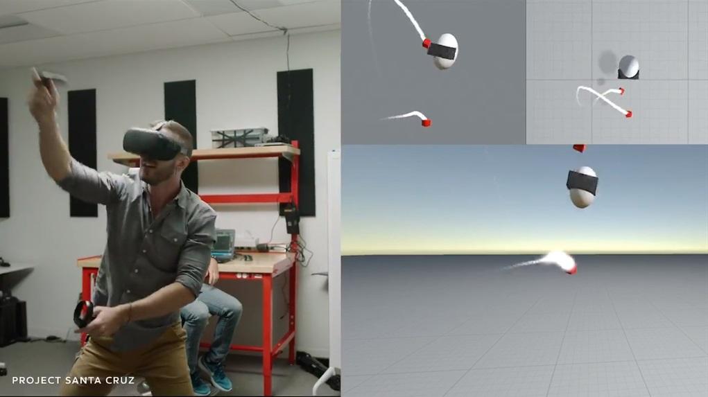 Oculus Santa Cruz prototype.