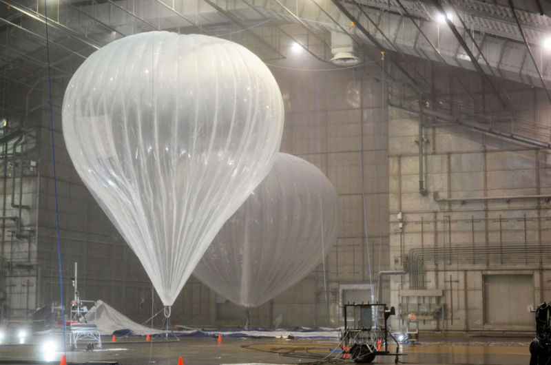 Project Loon balloons.