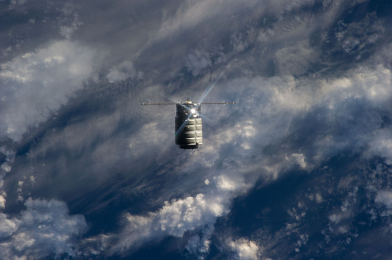 The first Cygnus commercial cargo spacecraft built by Orbital Sciences Corp. flew to the International Space Station in 2013.