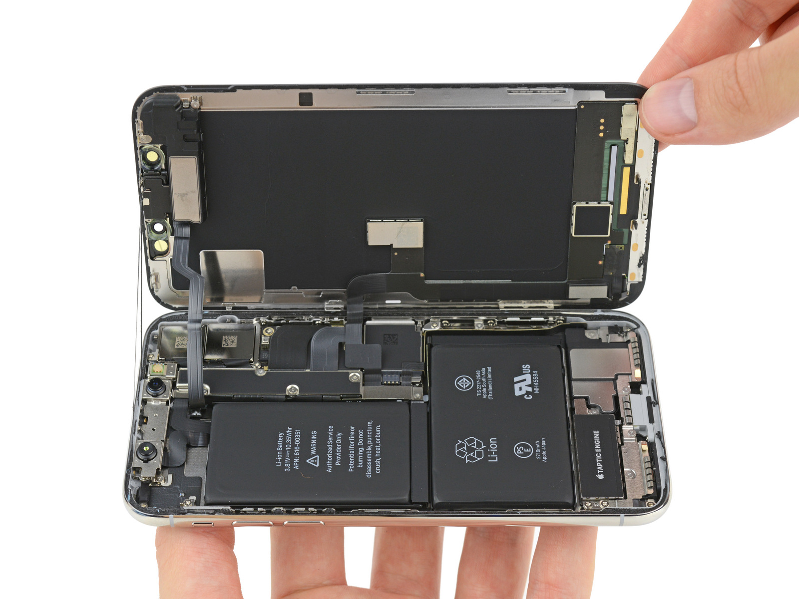 Ifixits Iphone X Teardown Finds Two Battery Cells And An Ipad 2 Logic Board Diagram Enlarge