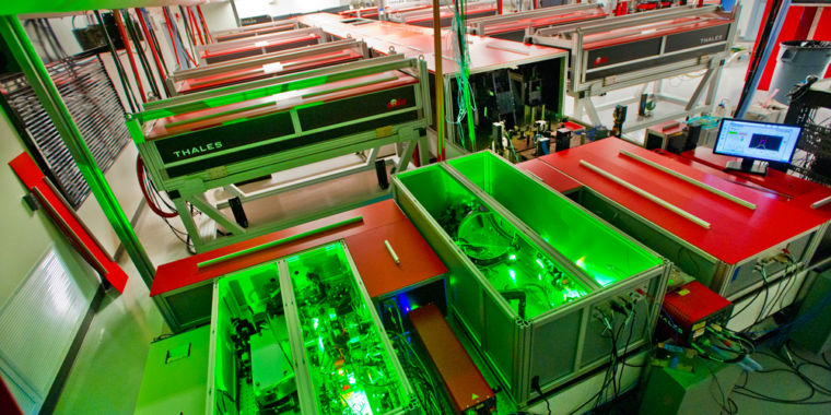 Excessively large laser is key to creating gamma ray sources