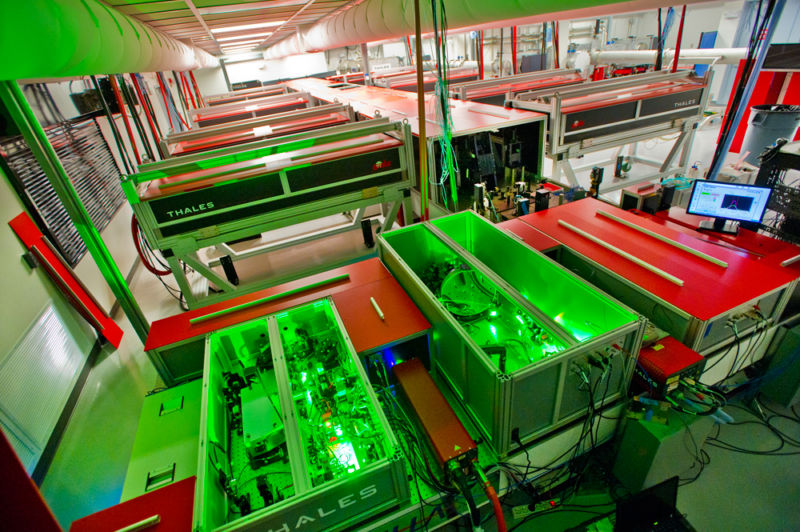 Room-sized lasers should always glow green.