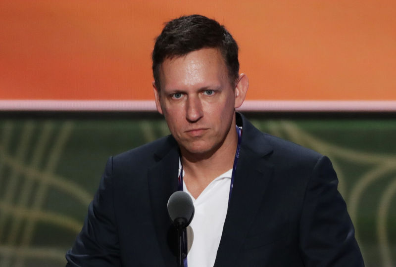 Peter Thiel is serious.