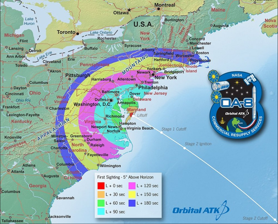 Can you see Saturday's launch of the Antares rocket?