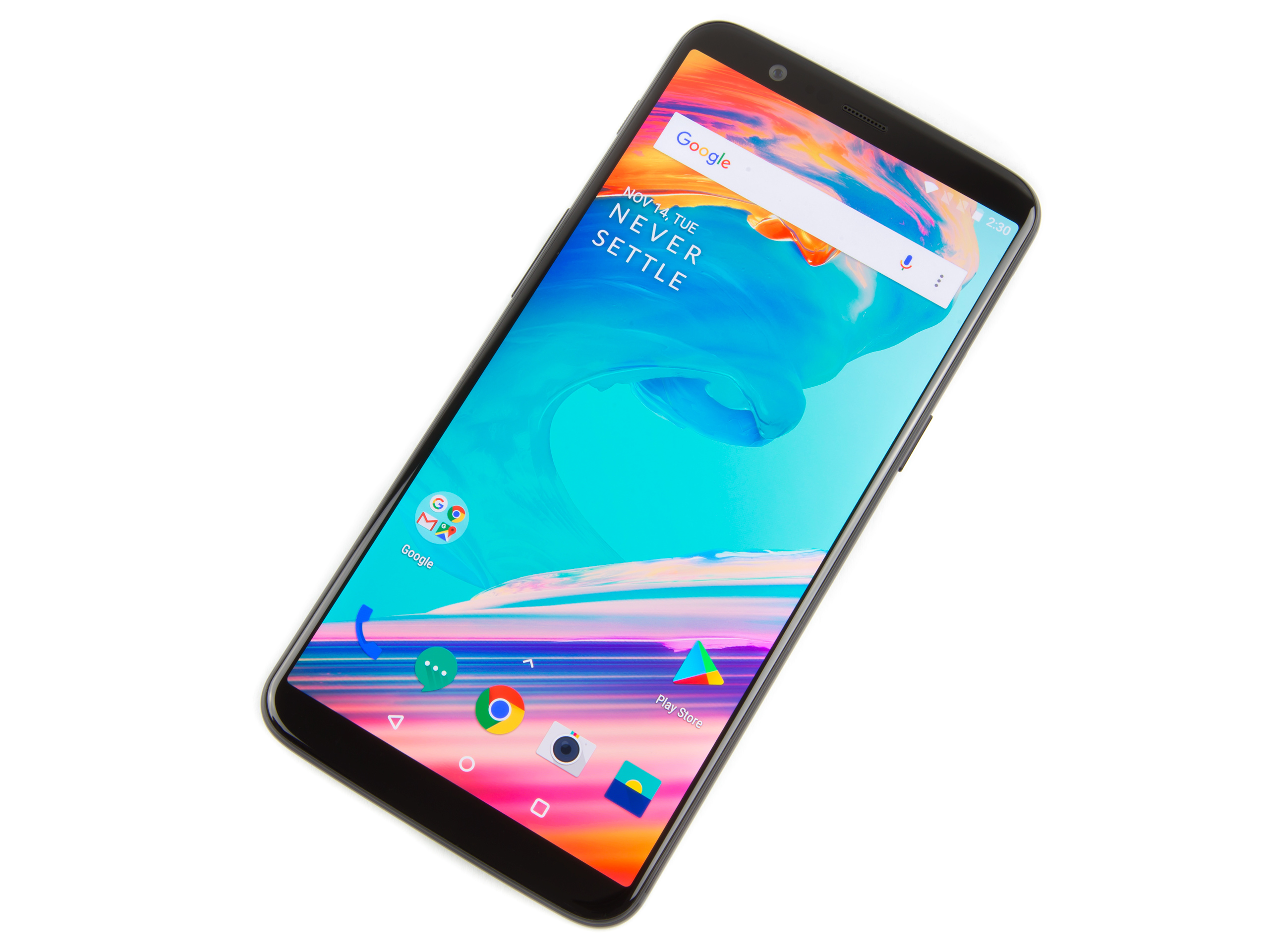 The OnePlus 5T. Check out those slim bezels.