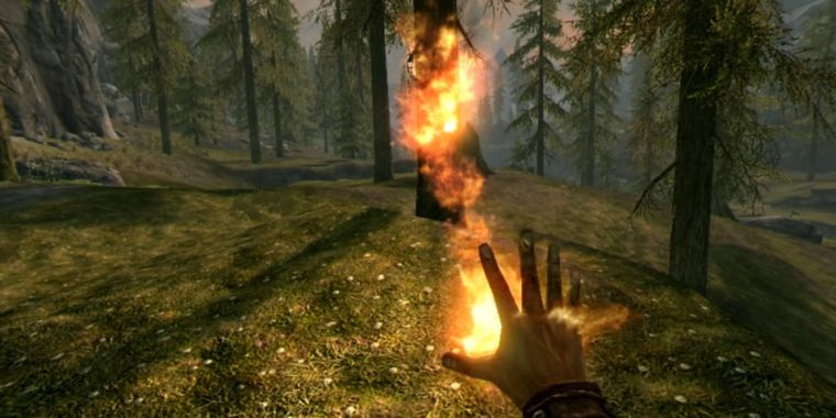 The world of Skyrim is thrilling and flawed in VR
