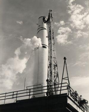 A Thor intermediate-range ballistic missile.
