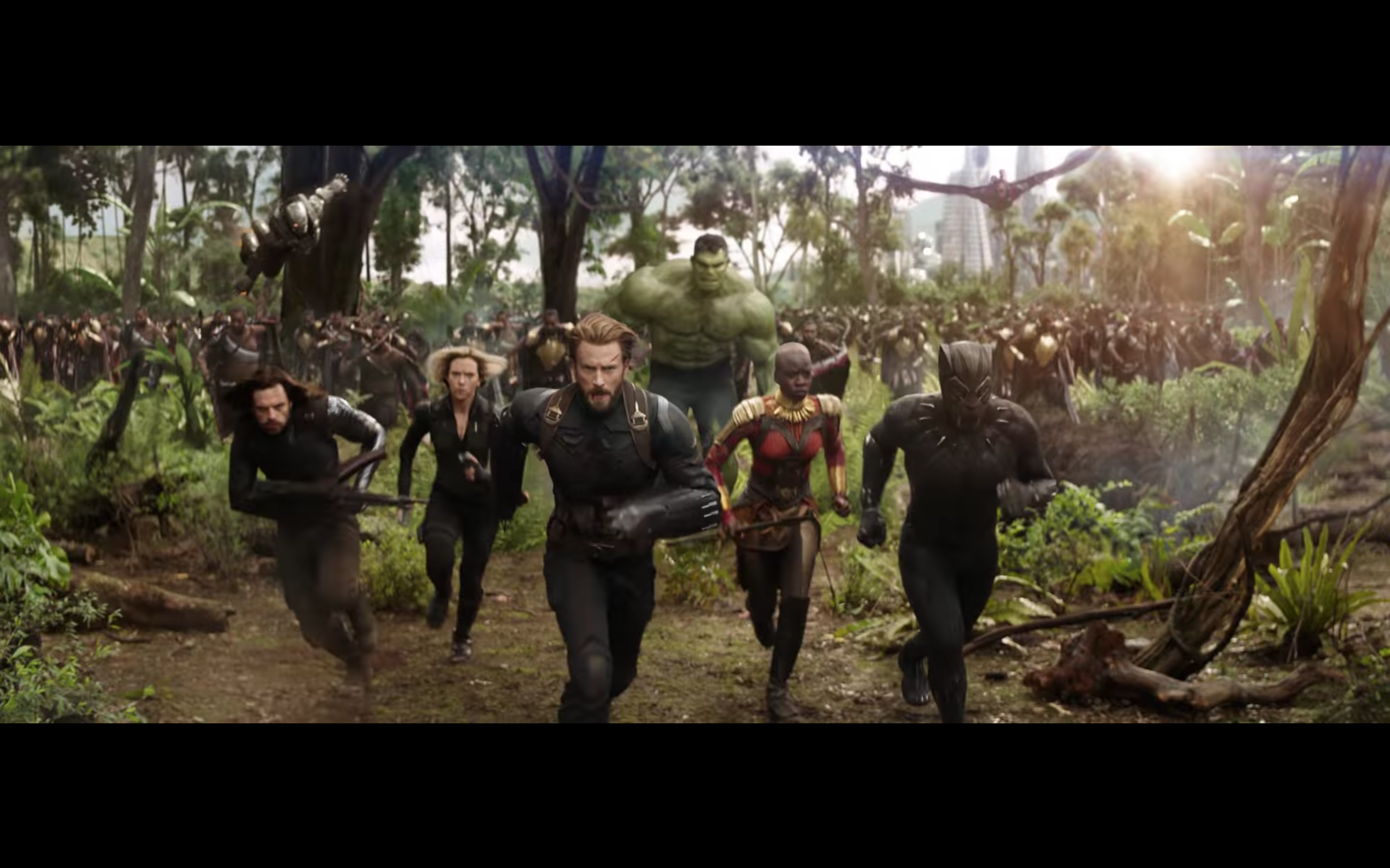the entire freaking gang is here in first avengers: infinity war