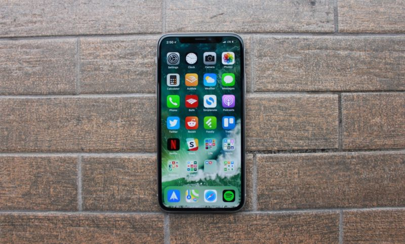 A functional iPhone X, unlike the ones that went through recent stress testing.