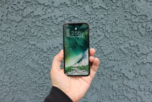 "The iPhone X isn't actually ""all screen,"" and it has that notch. But that doesn't make it any less dramatic."