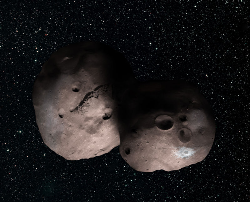 One artist's concept of Kuiper Belt object 2014 MU69, the next flyby target for NASA's New Horizons mission.