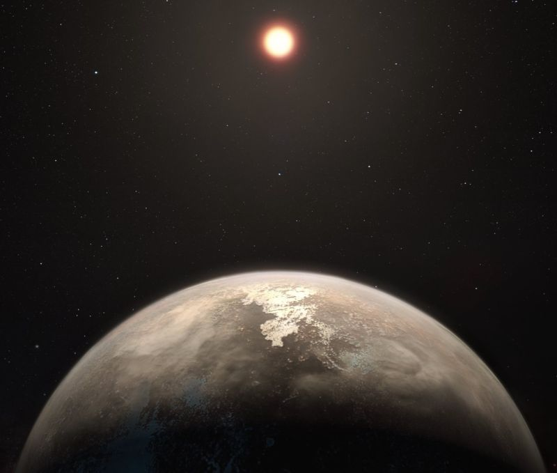 Artist's impression of the planet Ross 128 b.