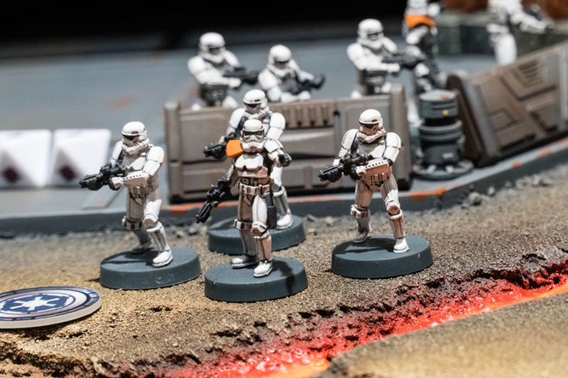 A fully painted stormtrooper battalion at last year's Essen game show.