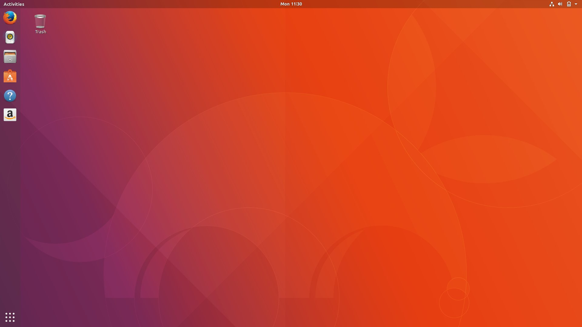 The stock GNOME desktop in Ubuntu 17.10.