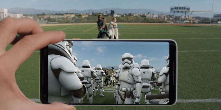 Google s ar stickers app launches puts star wars for Autocollant mural star wars