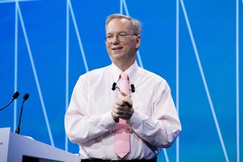 Eric Schmidt, former executive chairman of Alphabet Inc., in Paris in 2017.