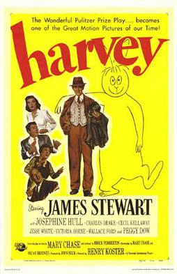 A poster for the movie <em>Harvey</em>, which inspired the name of the DARPA stealth research program.