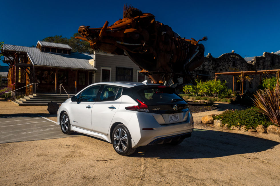 the all new 2018 nissan leaf driven ars technica. Black Bedroom Furniture Sets. Home Design Ideas
